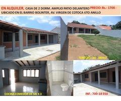 CASA  DE 380m2 B/ BOLINTER ZONA ESTE 6TO ANILLO