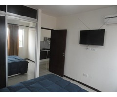 Departamento de 1 dormitorio totalmente AMOBLADO Av Beni.